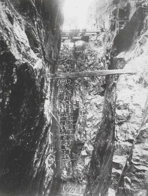 View inside a Plumbago Mine, 1880s: