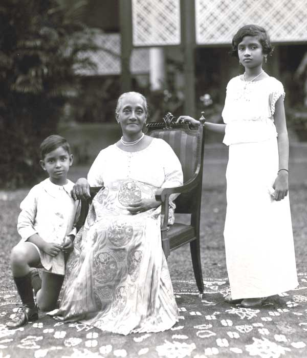 Lorna and Errol with Mrs. Alice de Fonseka.