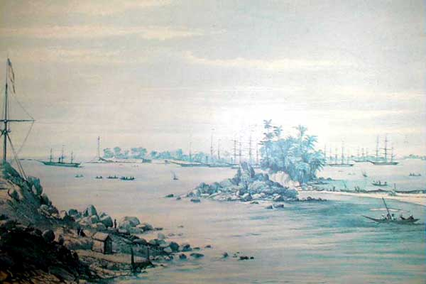 'Galle, from the Closenberg Station'    - Capt. O'Brian.
