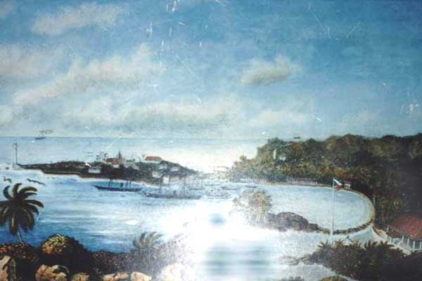 'Galle, from the Roomassala Range' - Unknown Artist   Note the Flagstaff