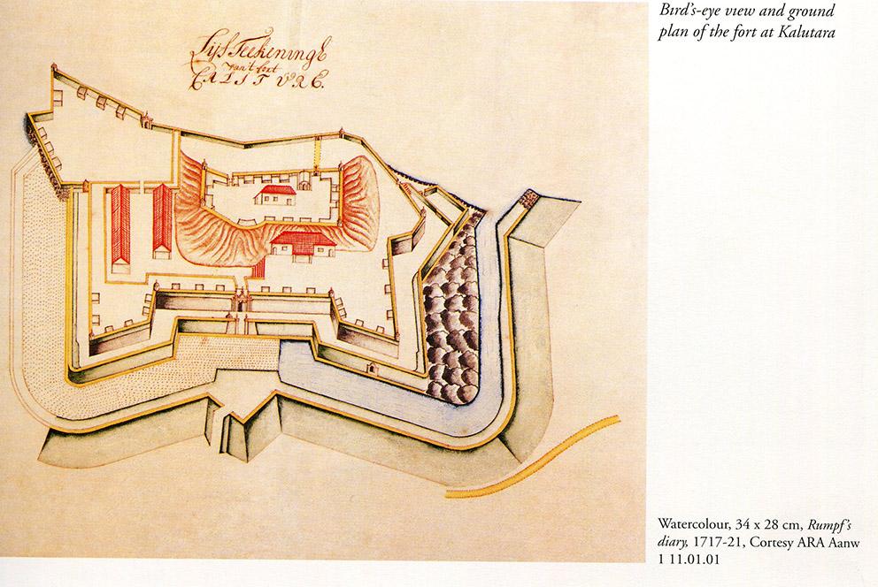 Ground Plan of Fort 1717-21 : Illustrations and views of Dutch Ceylon. R.K De Silva & R.M Beumer