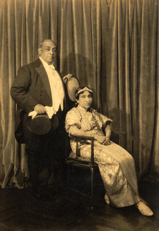 E.C. and Evangeline - Photograph taken just before their audience with King George V and Queen Mary at Buckingham Palace