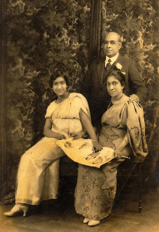 E.C., Evangeline and daughter Erica - Group study taken during the same visit in 1926. His son E.C Jnr was married by this time, and stayed back in Ceylon.