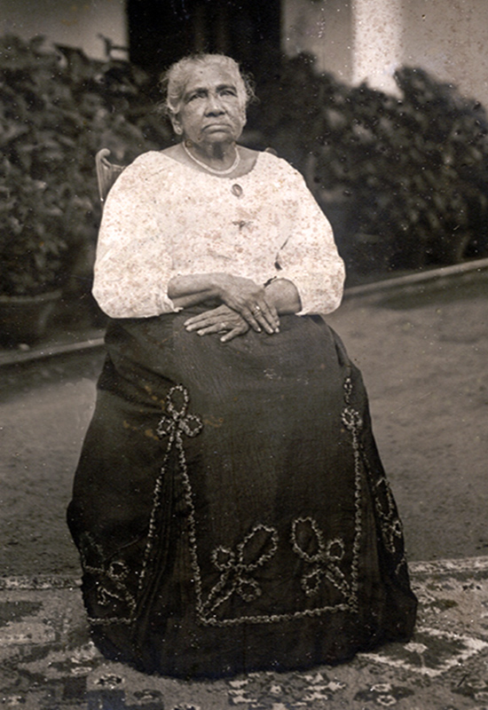 Appolonia Fernando - Maria Appolonia Fernando (nee De Mel), sister of Jacob De Mel. She was the mother-in-law of E. C. de Fonseka, and lived in to her 90's