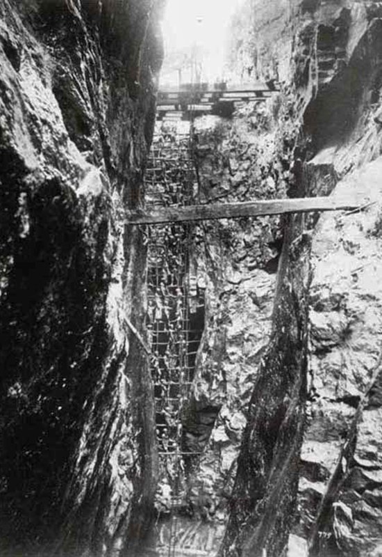 View inside a Plumbago Mine, 1880s - The photograph possibly shows one of the mines owned by W. A. Fernando, father-in-law of E. C. de Fonseka. Albumen Print 27.7 * 21 Royal Commonwealth society Y303E. From the book 'Regeneration', a book of Early Ceylon Prints, published by the British Council. On his death, these mines were managed by E. C. de Fonseka