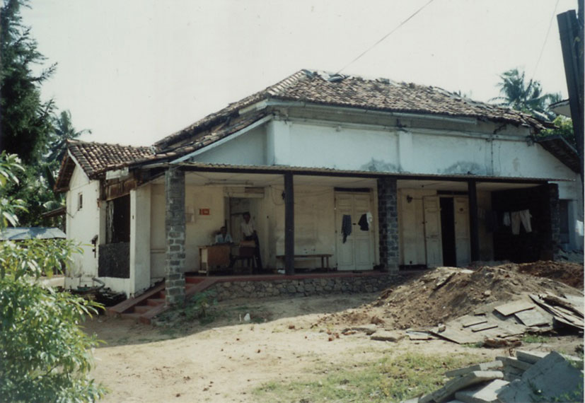 Mudaliyar Henry Fredrick's 'Walawwa' at 116/1 Horton Place (near the Kynsey Road intersection) existed up to the turn of the century. In 2002 when this photograph was taken by the author, it was used by it's present owners, Tudawe Brothers, as a warehouse and was partly demolished. The property has been since built on. The large garden which extended up to the road (where the above group photo was taken), now belongs to a residential block. Most of Henry Fredrick's children and grand-children were born in a room in this house.