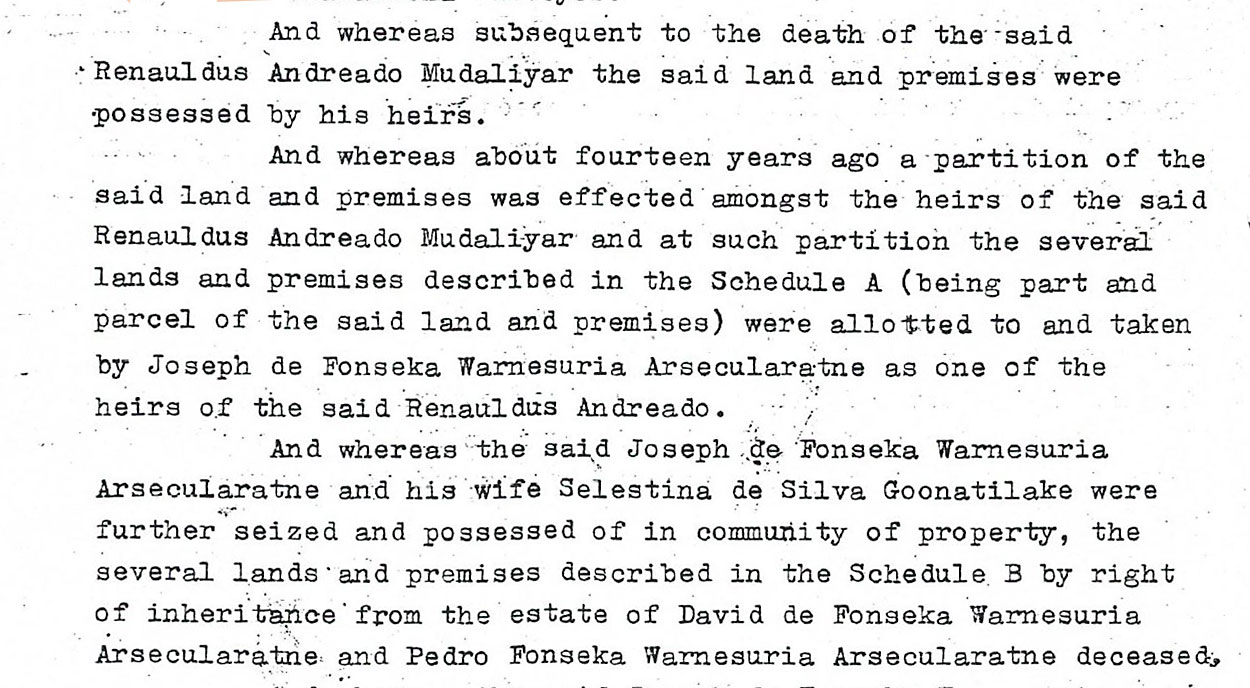 Extract from Indenture - Page 1